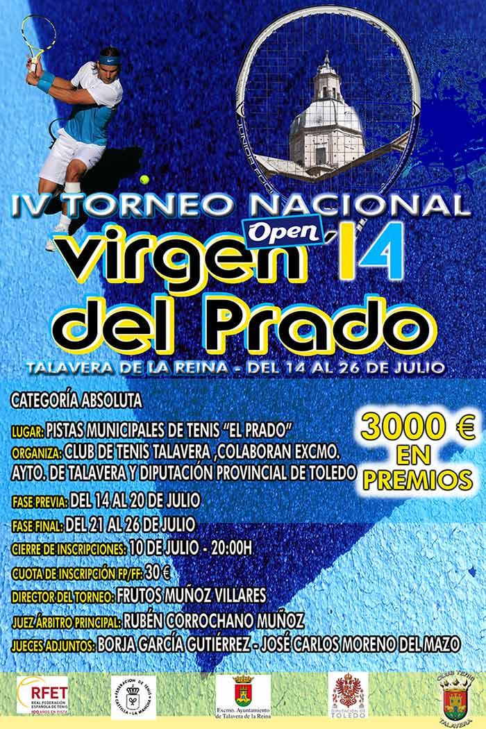 """Cartel de la 3ª edición del Torneo Nacional de Tenis """"Virgen del Prado"""""""